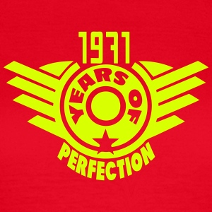 1971 years perfection 2 logo anniversair Tee shirts - T-shirt Femme