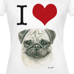 I love Möpse T-Shirts - Frauen T-Shirt