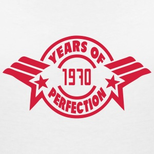 1970 years perfection logo anniversaire Tee shirts - T-shirt col V Femme