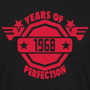 1968 years perfection logo 2 anniversair Tee shirts - T-shirt Homme
