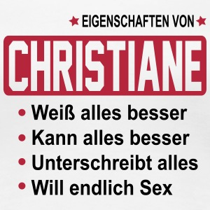 christiane T-Shirts - Frauen Premium T-Shirt