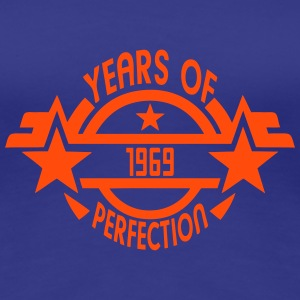 1969 years perfection logo Geburtstag T-Shirts - Frauen Premium T-Shirt