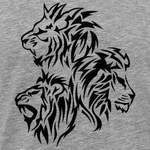 lion tribal tatouage dessin 14030 Tee shirts - T-shirt Premium Homme