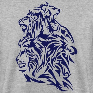 lion tribal tatouage dessin par 4 Sweat-shirts - Sweat-shirt Homme