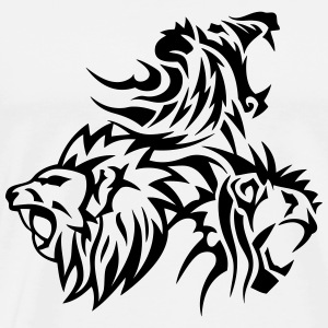 lion tribal tatouage dessin 14031 Tee shirts - T-shirt Premium Homme
