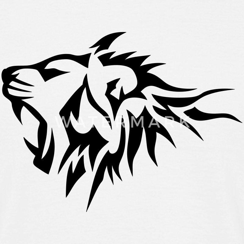 lion tribal tatouage dessin 14026 tee shirts t shirt homme