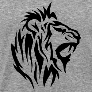 lion tribal tatouage dessin 14025 Tee shirts - T-shirt Premium Homme