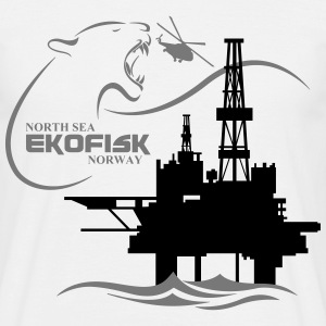 Ekofisk Oil Rig Platform North Sea Norway - Men's T-Shirt
