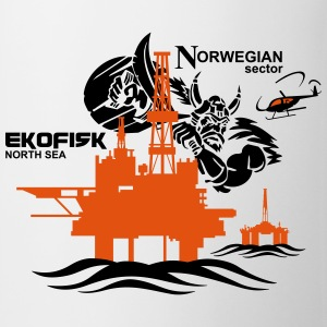 Ekofisk Oil Rig Platform North Sea Norway - Mug
