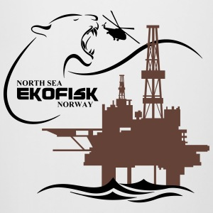 Ekofisk Oil Rig Platform North Sea Norway - Beer Mug