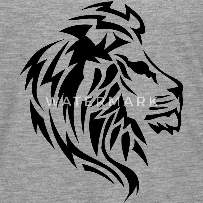 t shirt manches longues lion tribal tatouage dessin 14023. Black Bedroom Furniture Sets. Home Design Ideas