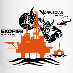 Ekofisk Oil Rig Platform North Sea Norway - Travel Mug