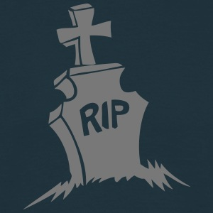 tombe rip croix cimetiere reste in peace Tee shirts - T-shirt Homme