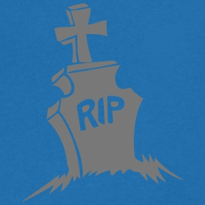 tombe rip croix cimetiere reste in peace Tee shirts - T-shirt Homme col V