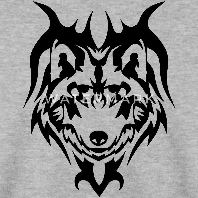 sweat shirt loup tatouage tribal animal sauvage spreadshirt. Black Bedroom Furniture Sets. Home Design Ideas