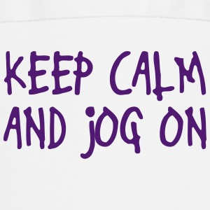 keep calm and jog on  Aprons - Cooking Apron