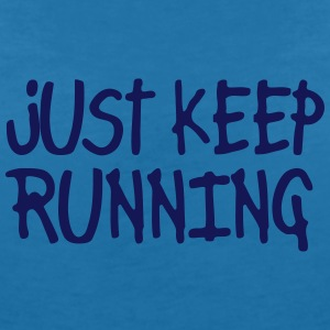 just keep running T-shirts - Dame-T-shirt med V-udskæring