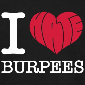 I Heart (Hate) Burpees T-shirts - T-shirt herr