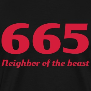 665 Neighbor of the Beast T-Shirts - Men's Premium T-Shirt