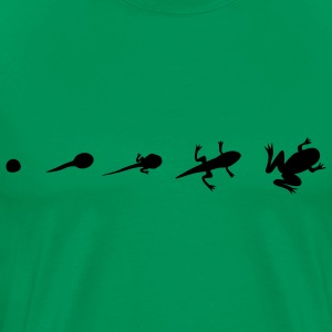 Frog Evolution  T-shirts - Herre premium T-shirt