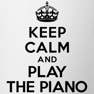 Keep calm and play the piano Bouteilles et tasses - Tasse bicolore
