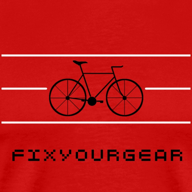 FIX YOUR GEAR - Classic Fixie Tee