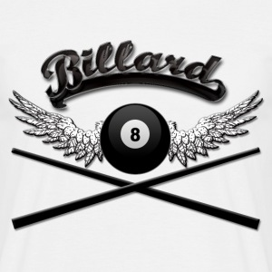 Billard Logo Queue T-Shirts - Männer T-Shirt
