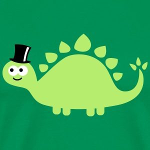 Funny cute dinosaur with cylinder (hat) Tee shirts - T-shirt Premium Homme
