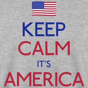 keep calm america blijf kalm amerika Sweaters - Mannen sweater