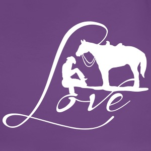 Cowgirls Love with horses T-Shirts - Frauen Premium T-Shirt
