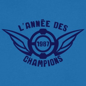 1987 annee anniversaire champion logo Tee shirts - T-shirt Homme col V