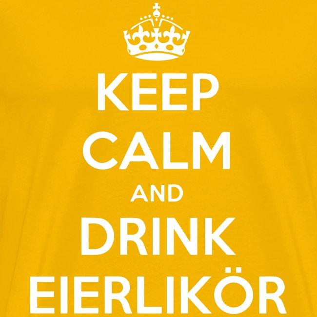 Herren Keep Calm and Drink Eierlikör Shirt Gelb
