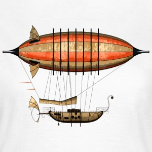 Vintage Steampunk Airship T-Shirt - Frauen T-Shirt