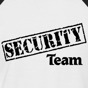 Security Team T-shirts - Mannen baseballshirt korte mouw