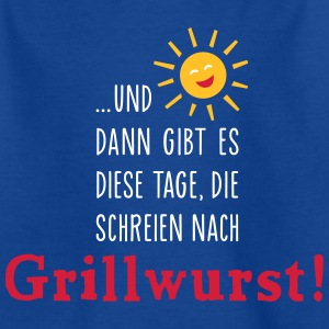 Grillwurst Tage - Barbecue - BBQ - Sonne - 3C T-Shirts - Teenager T-Shirt