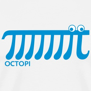 Math Pi Octopi Nerd Geek Joke Mathematics Teacher  - Männer Premium T-Shirt