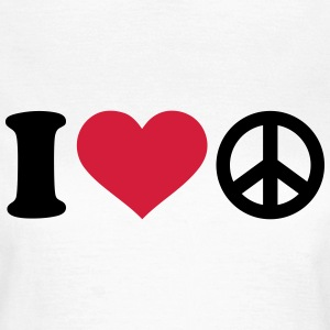 I love Peace T-Shirts - Frauen T-Shirt