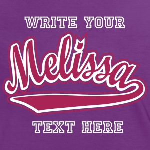 Melissa - T-shirt customised with your name T-Shirts - Women's Ringer T-Shirt