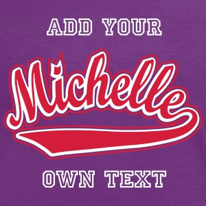 Michelle - T-shirt customised with your name T-Shirts - Women's Ringer T-Shirt