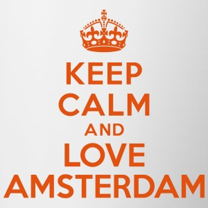 Keep calm and Love Amsterdam Bouteilles et tasses - Tasse bicolore