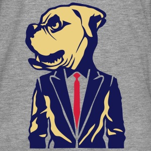 tete bulldog costume cravate Tee shirts manches longues - T-shirt manches longues Premium Homme