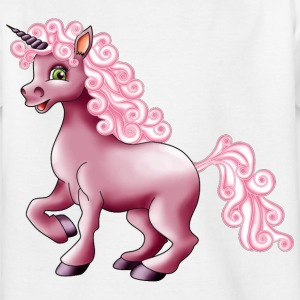 Einhorn in pink - Kinder T-Shirt
