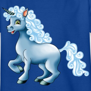 Einhorn in blau - Kinder T-Shirt