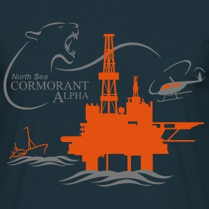 Cormorant Oil Rig Platform North Sea Aberdeen - Men's T-Shirt