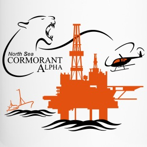 Cormorant Oil Rig Platform North Sea Aberdeen - Travel Mug