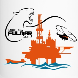 Fulmar Oil Rig Platform North Sea Aberdeen - Travel Mug