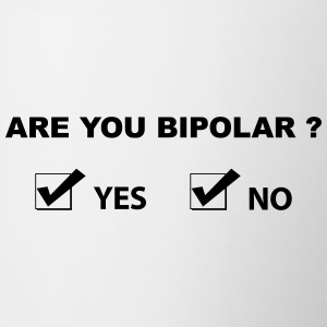 are you bipolar Bottles & Mugs - Contrasting Mug