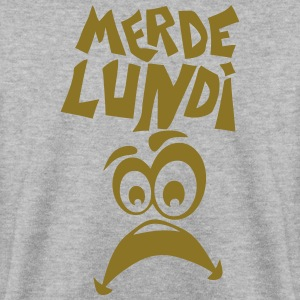 merde lundi smiley triste Sweat-shirts - Sweat-shirt Homme