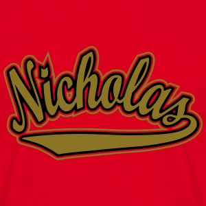 Nicholas - T-shirt personalised with your name T-Shirts - Men's T-Shirt