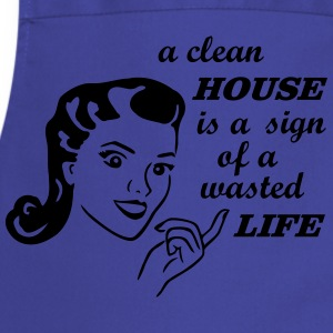 retro housewife joke  Aprons - Cooking Apron